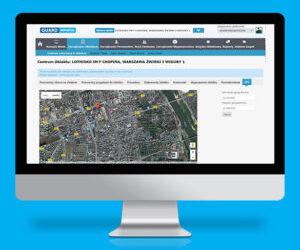 Aplikacja mobilna z lokalizacją GPS pracowników w obiekcie.